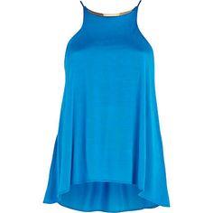 Blue metal trim racer front swing cami top - cami / sleeveless tops - tops - women