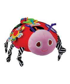 """Inspired by """"The Grouchy Ladybug"""" by children's book author Eric Carle, this adorable Ladybug Activity Plush Toy stimulates your little one's senses. Covered in printed fabrics based on Carle's art, the toy is full of fun things to discover. Grouchy Ladybug, Little Blessings, Activity Toys, Interactive Toys, Eric Carle, Infant Activities, Future Baby, Little Ones, Printing On Fabric"""