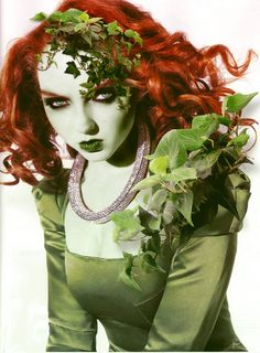 So after the Harley Quinn one, I decided to see if I could do Poison Ivy. I was releaved it actually went well. But of course, it was farely easy to do,. Lily Cole as Poison Ivy Poison Ivy Cosplay, Poison Ivy Costumes, Lily Cole, Poison Ivy Pictures, Green Lipstick, Pet Costumes, Halloween Costumes, Costume Ideas, Cosplay Ideas