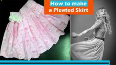 Learn how to make a Pleated skirt. In detail tutorial How to make 6 Types of Pleats Types Of Pleats, Pleated Skirt, Diy Fashion, Skirts, How To Make, English, Pleated Skirt Outfit, Pleated Skirts, Skirt