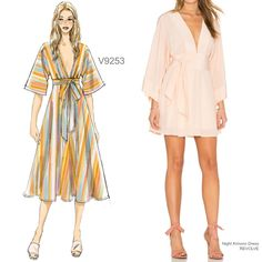 Sew the Look: Vogue Patterns V9253 kimono dress sewing pattern