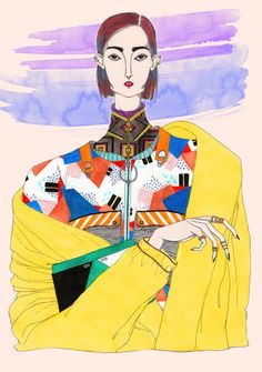 Crazy colored illustrations - an ode to the by Jeremy Combot - Art People Gallery Illustration Mode, Fashion Illustration Sketches, Fashion Sketches, Sketchbook Inspiration, Illustrations And Posters, Mode Style, Fashion Art, Illustrators, Art Drawings