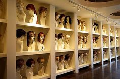 rachelle welch wig rooms - Bing Images This reminds me of the creepy witch in Return to Oz. Hair Product Storage, Home Hair Salons, Raquel Welch Wigs, Salon Stations, Hair Stores, Hair Boutique, Little Shop Of Horrors, Beauty Supply Store, Hair Shop