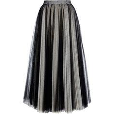 Plumetis Net Midi Skirt   Moda Operandi (40 175 UAH) via Polyvore featuring skirts, a line midi skirt, knee length a line skirt, a-line skirt, net skirt и calf length skirts