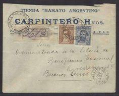 Argentina 1938 (2 Dic). Vicuña Mackenna - Bs As. Reg multifkd env tienda Barato Argentino. Nice town usage.  Dealer Antonio M. Torres  Auction Startin...