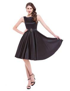 Women Dress Retro Vintage Jurken 50s 60s Swing Summer Dresses Sleeveless Elegant Tunic Office Dress Vestidos With Belt