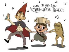This song ;u; >> Adelaide Parade: Ohh, we're goin' to the pasture to meet Adelaide and ask 'er If she has a way to send us back where we came from I don't know who she is, Or how she is Or when or why she is, But as for where she is She is where we will go To Adelaide, to Adelaide Come on and join the Adelaide parade Adelaide, to Adelaide We're going to Adelaide's house today