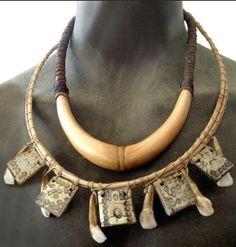 "Apoxie, leather, reed, teeth.  For ""Crusoe"", TV series. Kristine Berg"