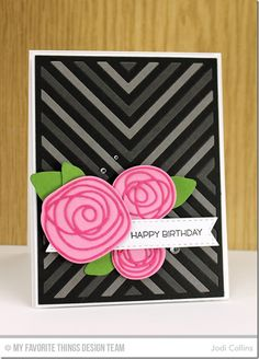 Things With Wings, Circle Scribble Flowers, Four Way Chevron Cover-Up Die-namics, Scribbles Die-namics, Fishtail Flags STAX Die-namics - Jodi Collins  #mftstamps