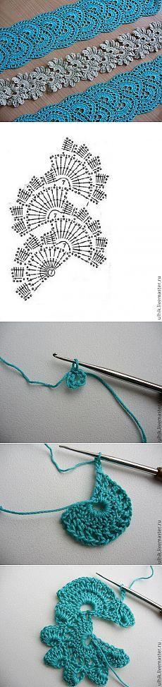 Вяжем ленточное кружево крючком