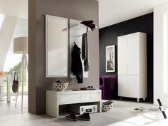 SINTIA Garderobe 4 weiß Hochglanz