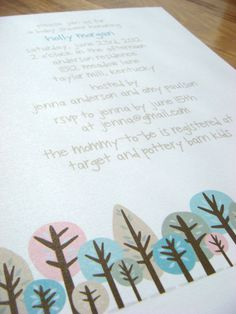 Whimsical Forest Baby Shower Invitation by Backwoods Design Studio