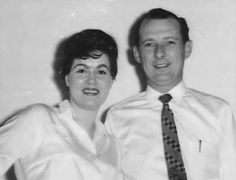 Patsy Cline with her manager Randy Hughes. February (1963). *Picture courtesy of Brian Braden via Facebook Page (Remembering Patsy Cline, Cowboy Copas and Hawkshaw Hawkins.)