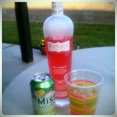 Kinky Liqueur with Sierra Mist or better yet Diet Kiwi Strawberry Sierra Mist...discovered this drink in time for Moondance