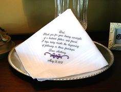 Father of The Groom Handkerchief Hankie  Hanky by MisterandMrs, $22.95
