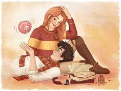 Ginny and Harry. Fan art is life