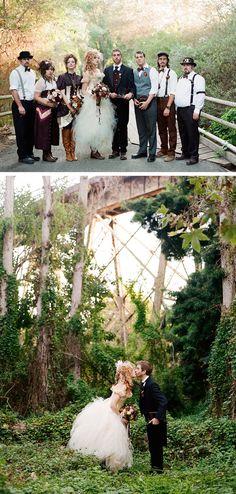 Victorian Steampunk Wedding - by Braedon Flynn Photography   Ruffled Blog ... #AliceInWonderlandWedding; #AttireandAccessories; #BridalGown; #BridalHair; #CinderellaWedding; #DisneyWedding; #GardenWedding; #RusticWedding; #SteampunkWedding; #VictorianWedding; #VintageWedding; #WeddingPhotos