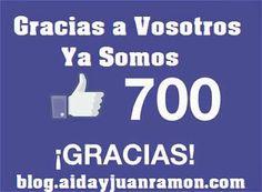 Estamos muy contentos porque hoy hemos conseguido 700 Me gusta en nuestra pagina y queríamos celebrarlo con vosotros. #megusta   #aidayjuanramon   #empowernetworkespañol   #empowernetwork   #lazymillonairesleagueespañol