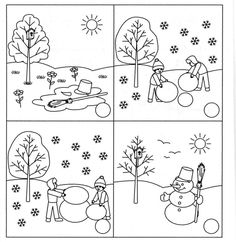 Sequencing Pictures, Story Sequencing, Fall Preschool, Preschool Activities, Free Printable Handwriting Worksheets, Toddler Crafts, Crafts For Kids, Free To Use Images, Winter Images