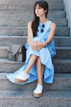 Outfit: From Day to Night mit hellblauem Maxikleid | Just a few things - Beauty- und Modeblog aus Freiburg