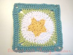 Flushed with Rosy Colour: Star Granny Square, free pattern