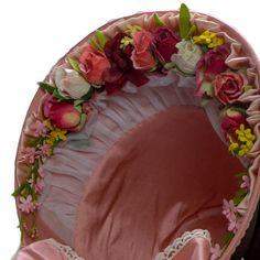 Black Velveteen MidVictorian Bonnet wth Pink by NorthSouthEmporium, $225.00