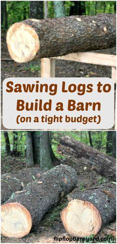How to saw logs