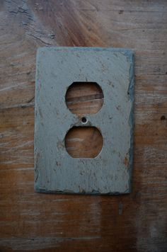 Vermont Slate Art Outlet Cover Switchplate Switch Plate Rustic Stone Light Wall Cover Reclaimed Salvaged by VermontSlateArt on Etsy