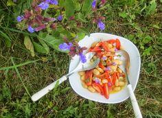 Weiße Bohnen mit Tomaten und Salbei - salad made of white beans, tomato and sage - http://barbaras-spielwiese.blogspot.com