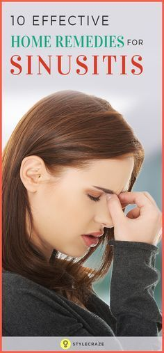 10 Effective Home Remedies For Sinusitis