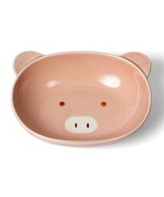 Might discourage overeating?  Take a look at this Pink Pig Plate by Miya Company on #zulily today!