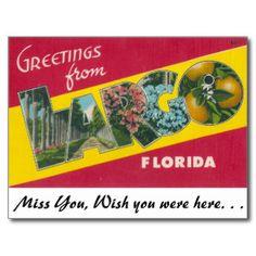 Key Largo Florida postcards | Vintage Florida Postcards & Postcard Template Designs | Zazzle