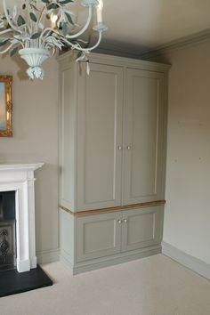 built in alcove cupboard, fireplace and fitted cabinet Alcove Wardrobe, Bedroom Wardrobe, Wardrobe Doors, Built In Wardrobe, Home Bedroom, Painted Wardrobe, Alcove Cupboards, Bedroom Cupboards, Built In Cupboards Living Room