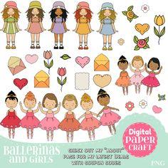 Ballet Clipart, Children Clipart,Ballerina Clipart, Dance clipart, Letter clipart, Clipart,  Flower clipart, Nature Clipart, female Clipart by DigitalPaperCraft on Etsy