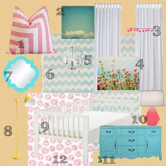 Carissa Miss: Interior Design Mood Board: Little Girl's Room