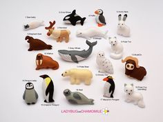 ARCTIC ANIMALS magnets Special edition by LADYBUGonCHAMOMILE