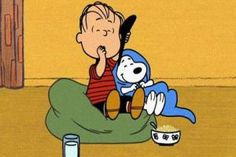 "Still image of Linus and Snoopy from ""Happiness is a Warm Blanket."" (Warner Premiere (c) Peanuts Worldwide, LLC.)"