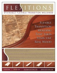This looks promising for our carpet-tile transition to wood-tile transition.