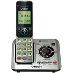 VTech CS6629 DECT 6.0 Expandable Cordless Phone with Answering System and Caller ID/Call Waiting, Silver with 1 Handset - Cordless - 1 x Phone Line - Speakerphone - Answering Machine - Hearing Aid Compatible - Backlight