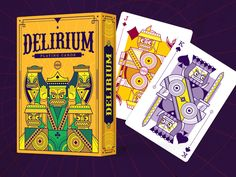 Thirdway Industries is raising funds for Delirium Playing Cards on Kickstarter! Custom illustrated poker playing cards, limited edition, printed by EPCC. House Of Cards, Deck Of Cards, Bicycle Cards, Vintage Playing Cards, Card Tricks, Cool Logo, Cool Cards, The Magicians, Tarot