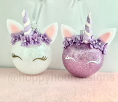A personal favorite from my Etsy shop https://www.etsy.com/listing/568241105/unicorn-ornament-custom-girls-ornaments