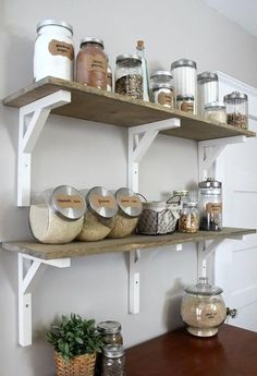 Open Shelving Kitchen Pantry | DIYIdeaCenter.com