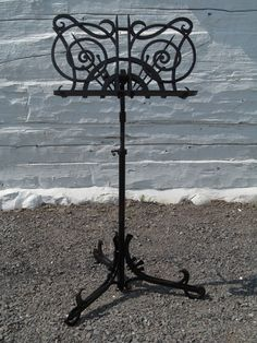 Forged by hand. Beautiful music stands can make a dramatic addition to a music room, if you're lucky enough to have one.