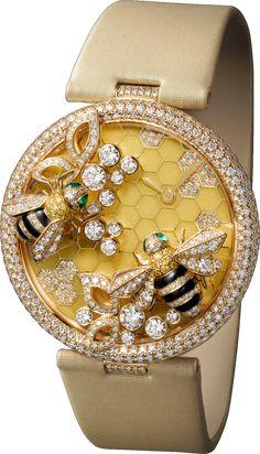 #Cartier Le Cirque Animalier De Cartier With #Bees Decor Yellow Gold #Watch