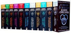 AvatarIII posted some of his favourite Sci-Fi books (link in comments), so to copy, here are some of my favourite fantasy novels Fantasy Book Series, Fantasy Books, Fiction Novels, Fiction Writing, I Love Books, My Books, Wheel Of Time Books, Robert Jordan, Jordan 13