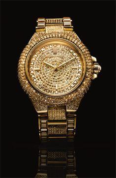 Michael Kors 'Camille' Crystal Encrusted Watch