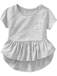Jersey Peplum-Hem Tees for Baby: Baby Girl Dresses, Baby Dress, Little Girl Fashion, Kids Fashion, Toddler Outfits, Kids Outfits, Baby Swag, Baby Kids Clothes, Sewing For Kids