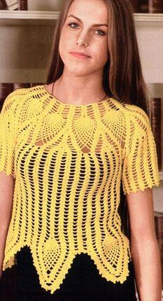 El esquema de suéteres de tejer crochet