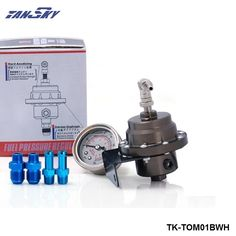 TANSKY - TOM Aluminum Adjustable Fuel Pressure Regulator Gauge Type L with white color For Jeep Wrangler YJ/TJ 87-06 TK-TOM01BWH #Affiliate