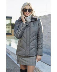 Μπουφάν με γουνινο γιακά Faux Fur, Winter Jackets, Blazer, Coat, Shopping, Fashion, Winter Coats, Moda, Sewing Coat